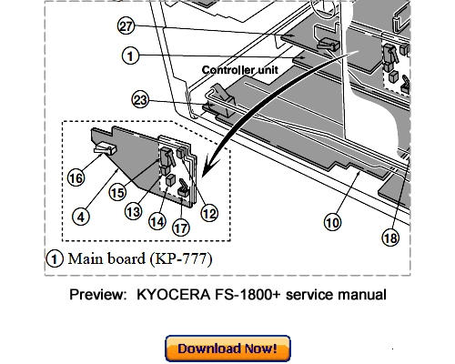 KYOCERA FS-1800+ FS-1800Plus Service Repair Manual