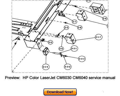 HP Color LaserJet CM6030 CM6040 MFP Service Repair Manual