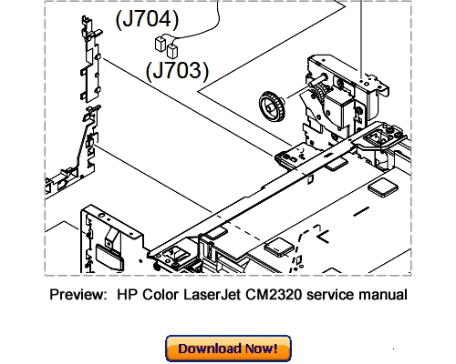 Free HP Color LaserJet 2500 Service Repair Manual Download