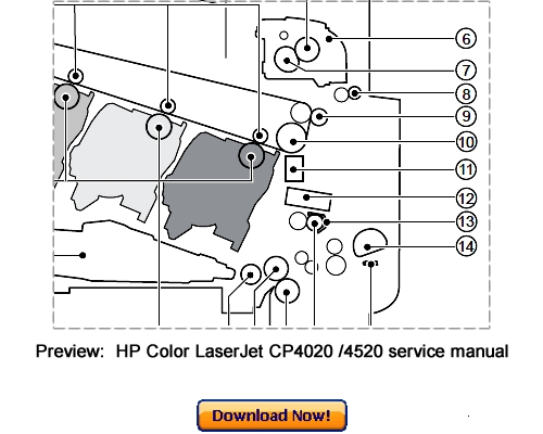 HP Color LaserJet CP4020 CP4520 Service Repair Manual