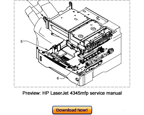 Free HP LaserJet 4200 4300 Service Repair Manual Download
