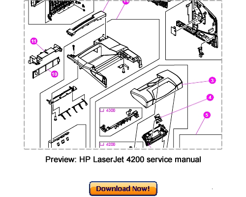 HP LaserJet 4200 4300 Service Repair Manual Download