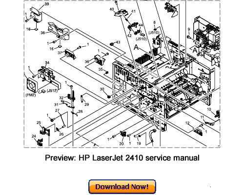 HP LaserJet 2410 2420 2430 Service Repair Manual Download