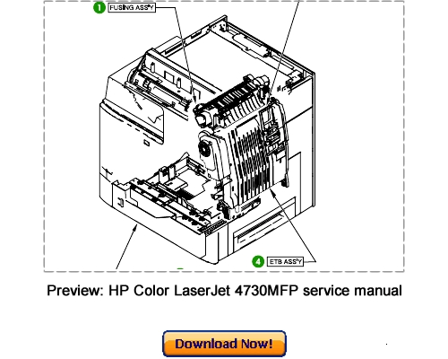 HP Color LaserJet 4730MFP Service Repair Manual Download