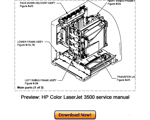 HP Color LaserJet 3500 3550 3700 Service Repair Manual