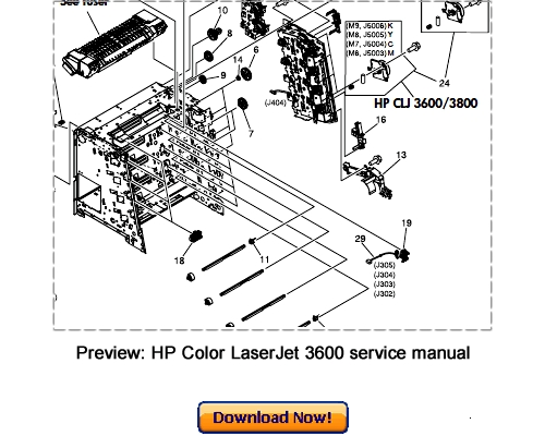 Free HP Color LaserJet 2600n Repair Service Manual