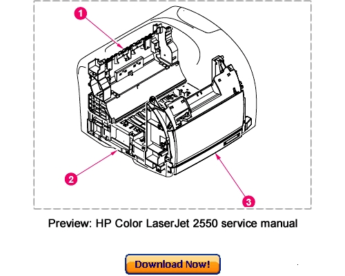 Free HP Color LaserJet 4500 4550 Service Repair Manual