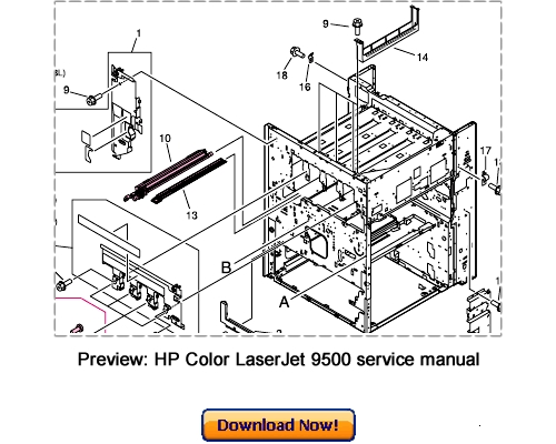 HP Color LaserJet 9500n 9500hdn Service Repair Manual