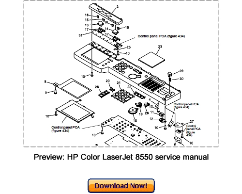 HP Color LaserJet 8550 MFP Service Repair Manual Download