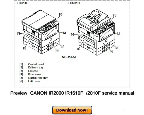 CANON iR1600 iR2000 iR1610F iR2010F Service Repair Manual