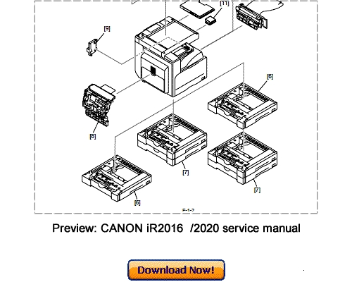 CANON iR2020 iR2016 SERIES SERVICE & REPAIR MANUAL
