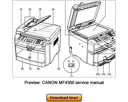 CANON MF4300 MF4380 D450d Service Repair Manual Download