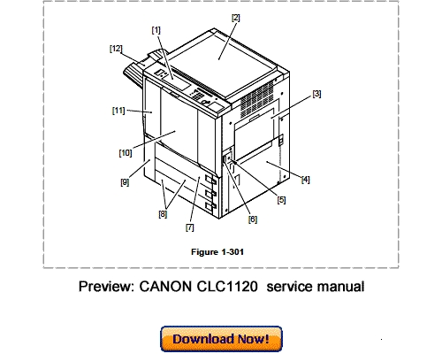 CANON CLC1120 CLC1130 CLC1150 Service Repair Manual