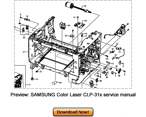 SAMSUNG CLP-310 CLP-315 Service Repair Manual Download