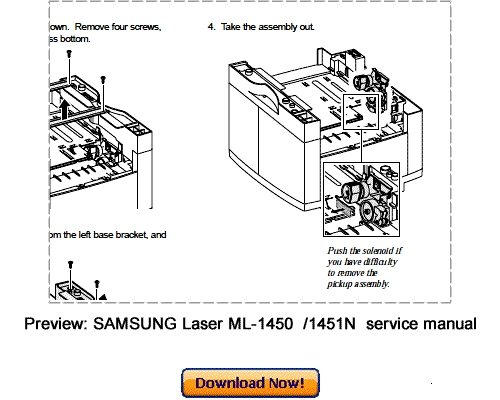 SAMSUNG ML-1450 ML-1451N Service Repair Manual Download