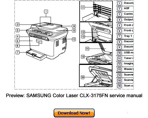 SAMSUNG CLX-3170 CLX-3175 Service Repair Manual Download