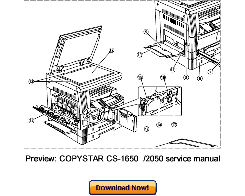 COPYSTAR CS-1650 CS-2050 Service Repair Manual Download