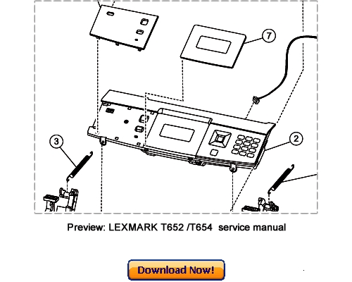 LEXMARK T650n T652n T654n T654dn Service Repair Manual