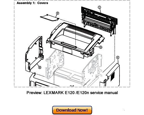 LEXMARK E120, E120n Service Repair Manual Download