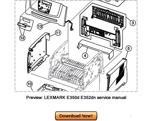 LEXMARK E350d, E352dn Service Repair Manual Download