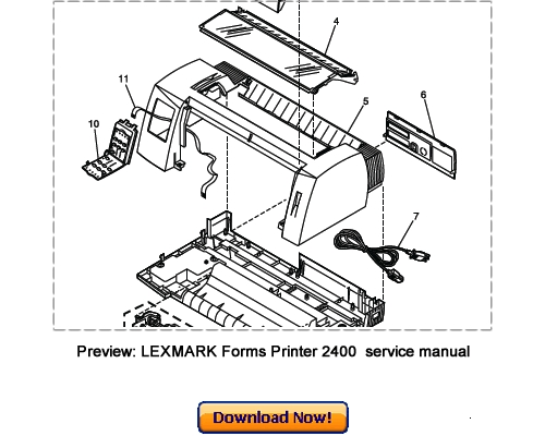 LEXMARK Forms Printer 2480 2481 2490 2491 Service Repair