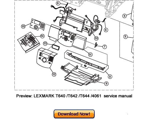 LEXMARK T640 T642 T644 Service Repair Manual Download
