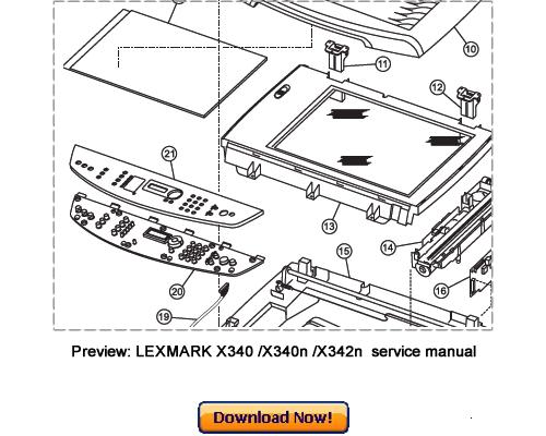 LEXMARK X340 MFP, X340n MFP, X342n MFP Service Repair