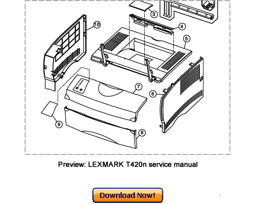 LEXMARK T420 T420n Service Repair Manual Download