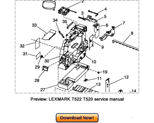 LEXMARK T522 T522n T520 T520n Service Repair Manual