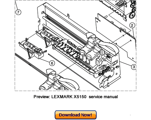 LEXMARK X5150 All-In-One Service Repair Manual Download
