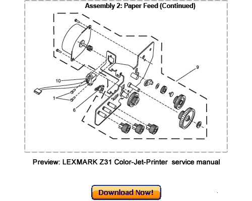 LEXMARK Z31 Color Jetprinter Service Repair Manual