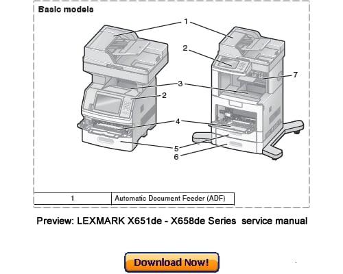 LEXMARK X651de X652de X654de X656dte X658de Service Repair