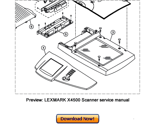 LEXMARK X4500 Scanner Service Repair Manual Download