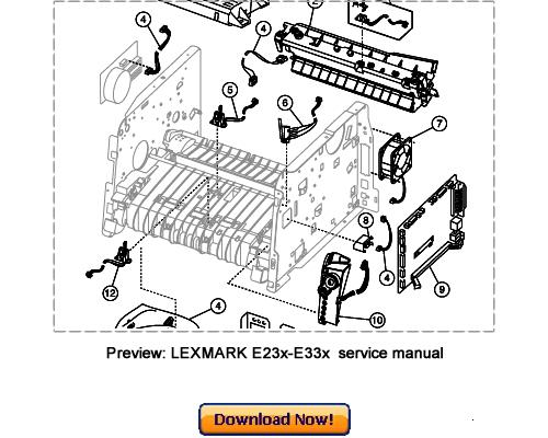 LEXMARK E230 E232 E330 E330n E234 E234n Service Repair