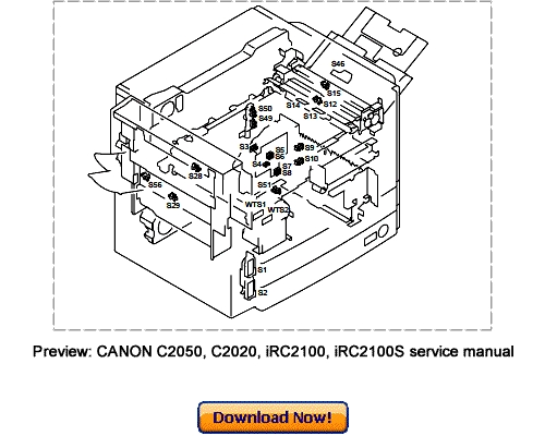 CANON C2050 C2020 iRC2100 iRC2100S Service Repair Manual
