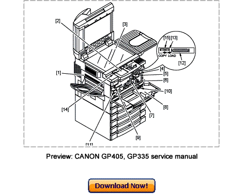 Canon GP405, GP400, GP335, GP330 Service Repair Manual