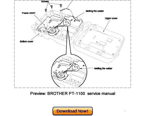 BROTHER PT-1100 PT-1130 PT-1170 PT-1180 PT-11Q Service