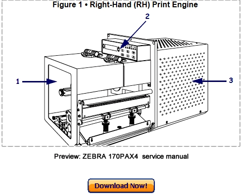 ZEBRA 170PAX4 Thermal Label Printer Service Maintenance