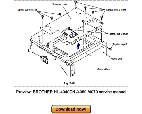 BROTHER HL-4040CN HL-4050CDN HL-4070CDW Service Repair