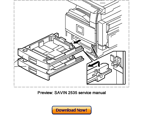 SAVIN 2535 2545 2535p 2545p Service Repair Manual Download