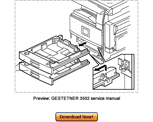 GESTETNER 3502 4502 3502P 4502P Service Repair Manual