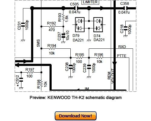 KENWOOD TH-K2AT, TH-K2E, TH-K2ET Service Repair Manual