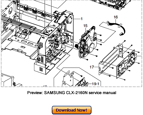 SAMSUNG CLX-2160 2160N Service Repair Manual Download