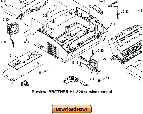 BROTHER HL-820 HL-1020 HL-1040 HL-1050 Service Repair