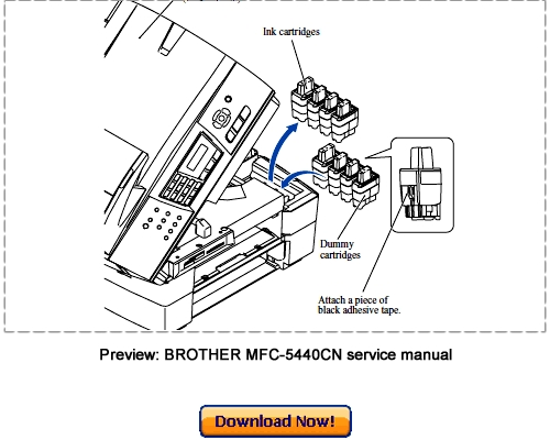 BROTHER MFC-5840CN MFC-5440CN Service Repair Manual