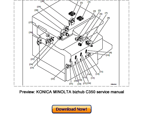 KONICA MINOLTA bizhub C350 Parts Catalog and Service