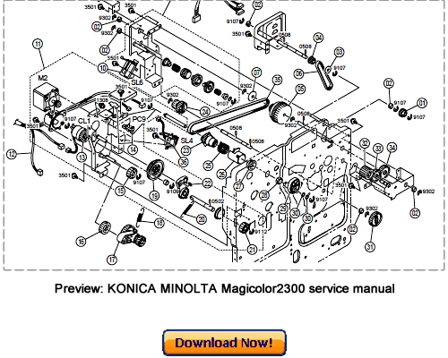 KONICA MINOLTA Magicolor2300 Service Repair Manual and