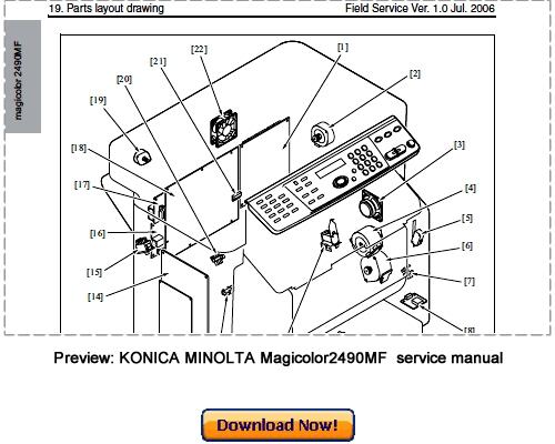 Free KONICA MINOLTA bizhub C300, bizhub C352 Service