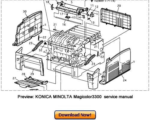 KONICA MINOLTA Magicolor 3300 Service Repair Manual