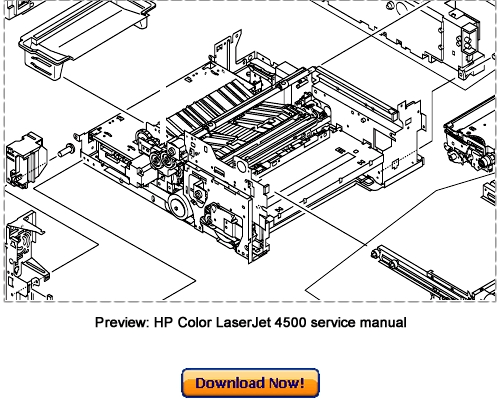 HP Color LaserJet 4500, 4500N, 4500DN Service Repair